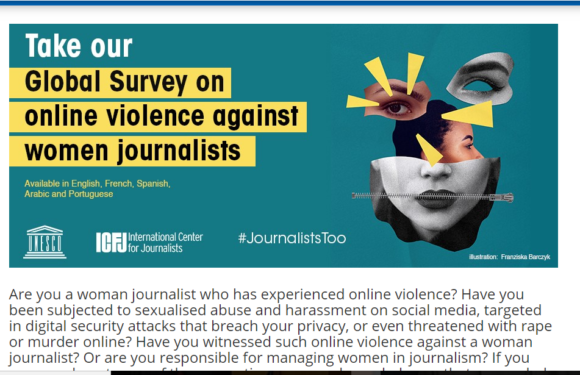 Take Global Survey: Online violence against women journalists and effective measures to combat the problem