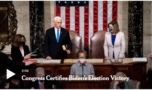 Congress Confirms Biden And Harris Electoral College Win!