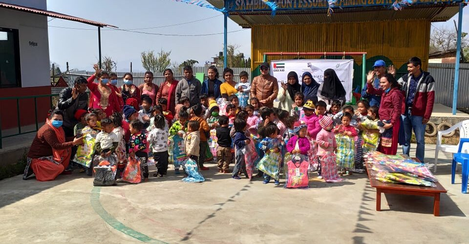 Cloth Distribution Program by NMWWS supported by U.A.E. Embassy